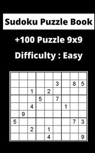 Sudoku Puzzle Book  sudoku: Difficulty : Easy sudoku / puzzles 9x9 game, 100 Pages, 5x8, Soft Cover, Matte Finish