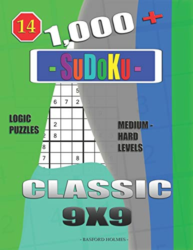 1,000 + Sudoku Classic 9x9: Logic puzzles medium - hard levels (Daily sudoku)