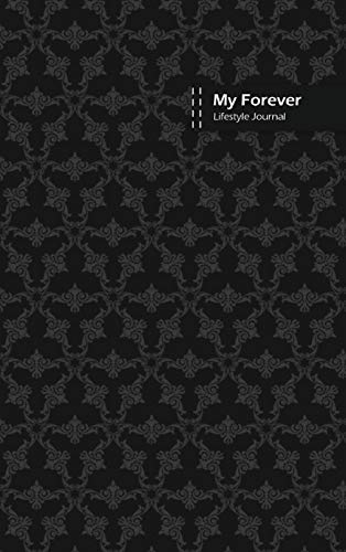 My Forever Lifestyle Journal, Blank Write-in Notebook, Dotted Lines, Wide Ruled, Size (A5) 6 x 9 In (Black)