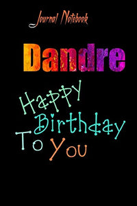 Dandre: Happy Birthday To you Sheet 9x6 Inches 120 Pages with bleed - A Great Happy birthday Gift