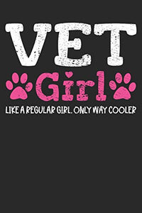 Notebook: Vet Veterinarian Girls 6x9 Dot Grid 120 Pages