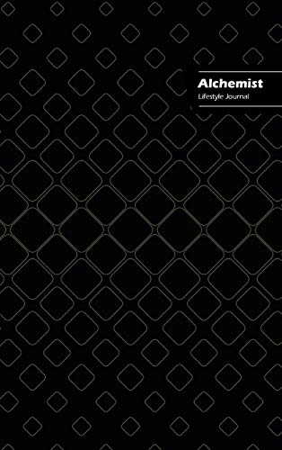 Alchemist Lifestyle Journal, Write-in Notebook, Dotted Lines, Wide Ruled, Medium Size 6 x 9 Inch (A5) Hardcover (Black)