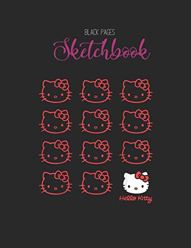 Black Paper SketchBook: Funny Workout Quote Punch Hard Eat Tacos Foodie Lovers Designed BLACK PAPER Sketch Book for Drawing Sketching and Writing With ... Workout Marble Size Kawaii Kitty 8.5inx11in
