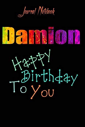 Damion: Happy Birthday To you Sheet 9x6 Inches 120 Pages with bleed - A Great Happy birthday Gift
