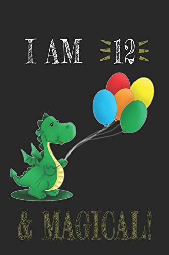 I AM 12 and Magical !! Dragon Notebook: A NoteBook For Dragon  Lovers , Birthday & Christmas Present For Dragon Lovers , 12 years old Gifts