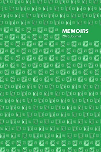 Memoirs Dated 2020 Daily Journal, (Jan - Dec), 6 x 9 Inches, Full Year Planner (Green)