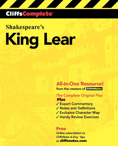 CliffsComplete Shakespeare's King Lear