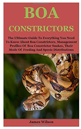 Boa Constrictors: The Ultimate Guide To Everything You Need To Know About Boa Constrictors, Management Profiles Of  Boa Constrictor Snakes, Their Mode Of  Feeding And Specie Distributions