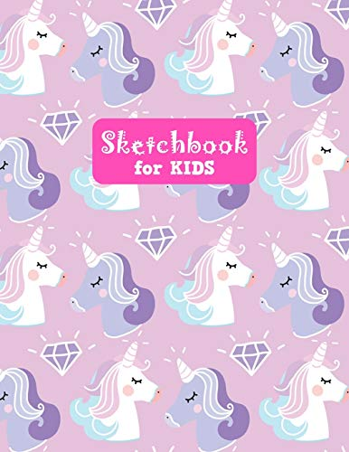 Sketchbook for Kids: Adorable Unicorn Large Sketch Book for Drawing, Writing, Painting, Sketching, Doodling and Activity Book- Birthday and Christmas ... Boys, Teens and Women - Lilly Design # 0074