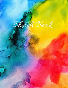 "Sketch Book:  Large Artistic Creative Colorful Notebook for Drawing, Writing, Painting, Sketching or Doodling | Gift Idea for Artists, Students and Kids: 8.5""x11""- 110 pages glossy finish notebook"