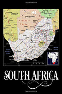 South Africa: Map of South Africa Notebook