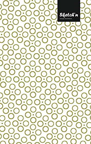 Sketch'n Lifestyle Sketchbook, (Bubbles Pattern Print), 6 x 9 Inches, 102 Sheets (Beige)