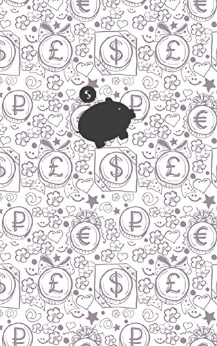 (Black) Smart Piggy Monthly Household Budget Planner, 24 Months Expense Write-in Notebook.