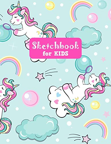 Sketchbook for Kids: Pretty Unicorn Large Sketch Book for Drawing, Writing, Painting, Sketching, Doodling and Activity Book- Birthday and Christmas ... Boys, Teens and Women - Lilly Design # 0074