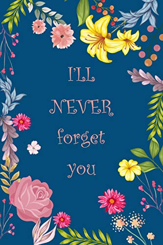 I'll Never Forget You: Log Book and An Organizer for All Your Passwords, Alphabetical Pocket with Little Cute Deer Discreet Password Book | Flower Design Teal Color