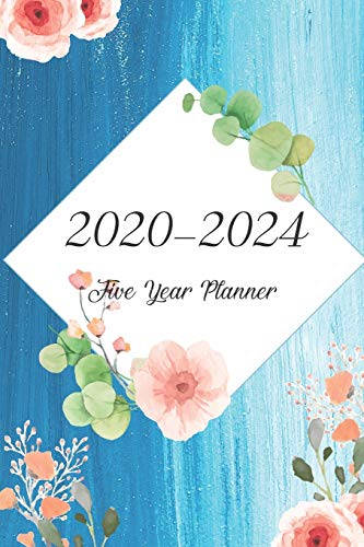 2020-2024 Five Year Planner: Bluesky Oilcolor Cover, Monthly Schedule Organizer, 60 Month Calendar Planner Agenda with Holidays Pocket Size
