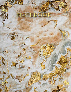 Gold Marble Notebook: (College Ruled Marble Notebooks for School)