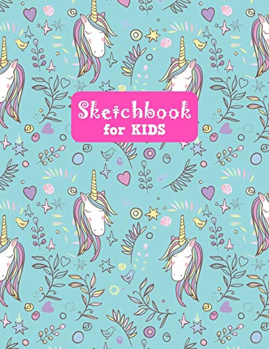 Sketchbook for Kids: Unicorn Large Sketch Book for Drawing, Writing, Painting, Sketching, Doodling and Activity Book- Birthday and Christmas Gift ... Boys, Teens and Women - Lilly Design # 0077