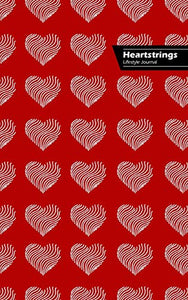 Heartstrings Lifestyle Journal, Blank Notebook, Dotted Lines, 288 Pages, Wide Ruled, 6 x 9 (A5) Hardcover (Red)