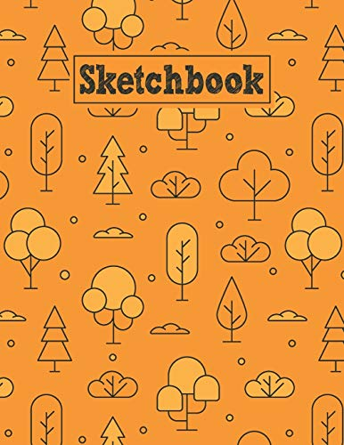 Sketchbook: 8.5 x 11 Notebook for Creative Drawing and Sketching Activities with Linear Trees Themed Cover Design