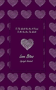 "Love Bites Lifestyle Write-in Notebook, Dotted Lines, 288 Pages, Wide Ruled, Size 6"" x 9"" (A5) Hardcover (Purple)"