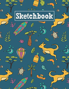 Sketchbook: 8.5 x 11 Notebook for Creative Drawing and Sketching Activities with Australia Themed Cover Design
