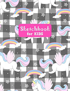 Sketchbook for Kids: Unicorn Large Sketch Book for Drawing, Writing, Painting, Sketching, Doodling and Activity Book- Birthday and Christmas Gift ... Boys, Teens and Women - Lilly Design # 0076