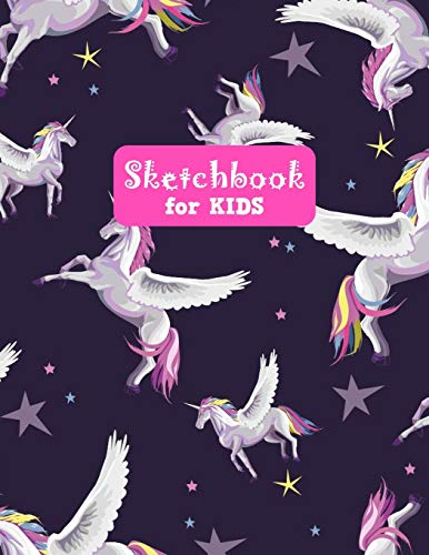 Sketchbook for Kids: Pretty Unicorn Large Sketch Book for Drawing, Writing, Painting, Sketching, Doodling and Activity Book- Birthday and Christmas ... Boys, Teens and Women - Lilly Design # 0081