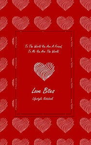 "Love Bites Lifestyle Write-in Notebook, Dotted Lines, 288 Pages, Wide Ruled, Size 6"" x 9"" (A5) Hardcover (Red)"