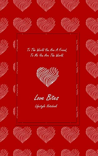 Love Bites Lifestyle Write-in Notebook, Dotted Lines, 288 Pages, Wide Ruled, Size 6