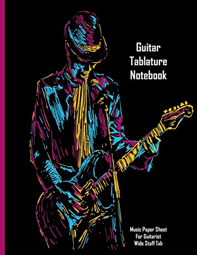 Guitar Tablature Notebook: Music Paper Sheet For Guitarist And Musicians - Wide Staff Tab | 8.5 X 11 - 109 Pages