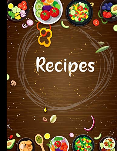 Recipe notebook: Favorite Recipes and Meals Floral Vintage Flowers,color ful with lots of ingredients list,stylist book cover,(8.5