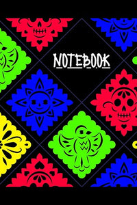 Notebook : colorful cover (blue-yellow-green-yellow) wide ruled 100 pages 6x9 matte finish