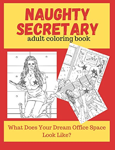 Naughty Secretary Adult Coloring Book