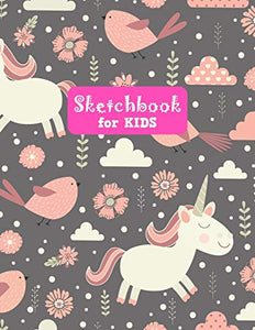 Sketchbook for Kids: Pretty Unicorn Large Sketch Book for Drawing, Writing, Painting, Sketching, Doodling and Activity Book- Birthday and Christmas ... Boys, Teens and Women - Lilly Design # 0083