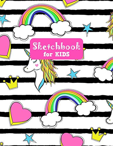 Sketchbook for Kids: Unicorn Large Sketch Book for Sketching, Drawing, Creative Doodling Notepad and Activity Book - Birthday and Christmas Gift Ideas ... Girls, Teens and Women - Lilly Design # 0081