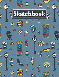 Sketchbook: 8.5 x 11 Notebook for Creative Drawing and Sketching Activities with City Life Themed Cover Design