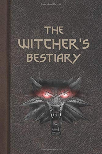 "The Witcher's Bestiary: Brown Leather Collection |  Fan Notebook, Sketchbook, Diary, Journal, For Kids, For A Gift, To School  | 120 Wide Ruled Blank Pages | 6"" x 9"" (Witcher Wide ruled)"