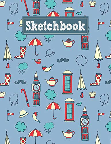 Sketchbook: 8.5 x 11 Notebook for Creative Drawing and Sketching Activities with Great Britain Themed Cover Design