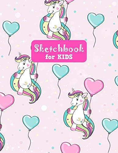 Sketchbook for Kids: Adorable Unicorn Large Sketch Book for Sketching, Drawing, Creative Doodling Notepad and Activity Book - Birthday and Christmas ... Girls, Teens and Women - Lilly Design # 0082