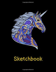 Sketchbook: Blank Sketchbook for Kids, Boys and Girls, Doodle, Draw and Sketch (Unicorn)