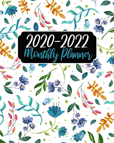 2020-2022 Monthly Planner: White Floral, 36 Months Calendar Agenda Schedule Organizer January 2020 to December 20222 With Holidays and inspirational Quotes