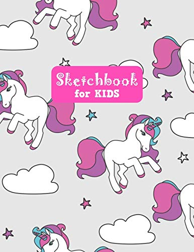 Sketchbook for Kids: Unicorn Large Sketch Book for Drawing, Writing, Painting, Sketching, Doodling and Activity Book- Birthday and Christmas Gift ... Boys, Teens and Women - Lilly Design # 0080
