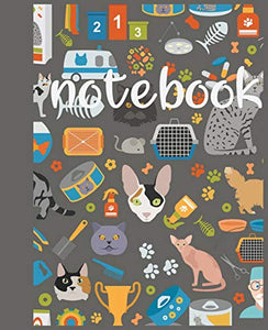 Notebook: cat lovers or for those who just love a cute and artistic cover design book for notebook