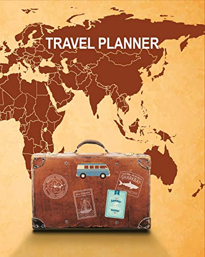 Travel Planner: Road Trip Planner, Vacation Log Book, Checklist, Budget Planner, Expense Tracker, Itineraries & More, Memory Keepsake