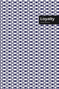 Loyalty Lifestyle, Creative, Write-in Notebook, Dotted Lines, Wide Ruled, Medium Size 6 x 9 Inch, 288 Pages (Blue)