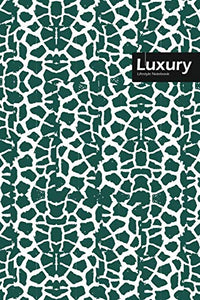 "Luxury Lifestyle, Animal Print, Write-in Notebook, Dotted Lines, Wide Ruled, Medium 6 x 9"", 288 Pages (Olive Green)"