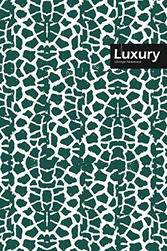 Luxury Lifestyle, Animal Print, Write-in Notebook, Dotted Lines, Wide Ruled, Medium 6 x 9