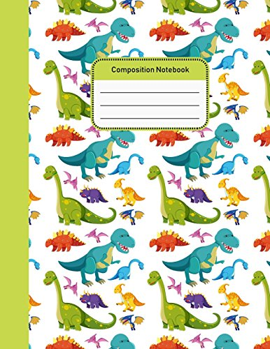 Composition Notebook: Dinosaurs College Ruled Notebook for Student Teacher School Home Office 8.5x11 Inches  100 Pages (Volume 1)