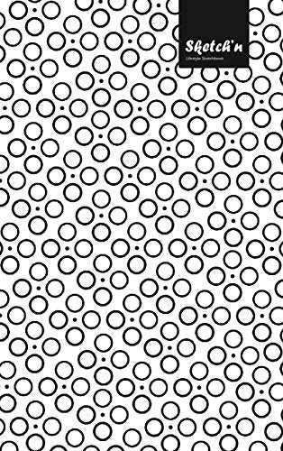 Sketch'n Lifestyle Sketchbook, (Bubbles Pattern Print), 6 x 9 Inches (A5), 102 Sheets (Black)